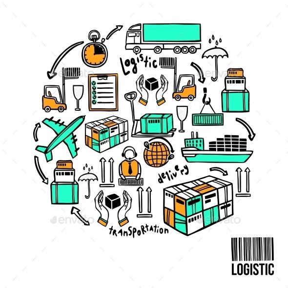 Logistic Sketch Concept - Concepts Business