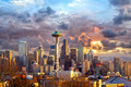 Seattle at sunset - PhotoDune Item for Sale
