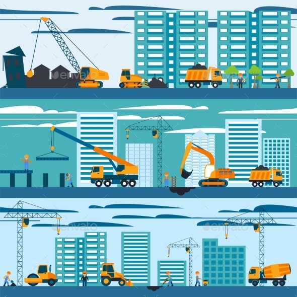 Construction and Building Concept - Industries Business