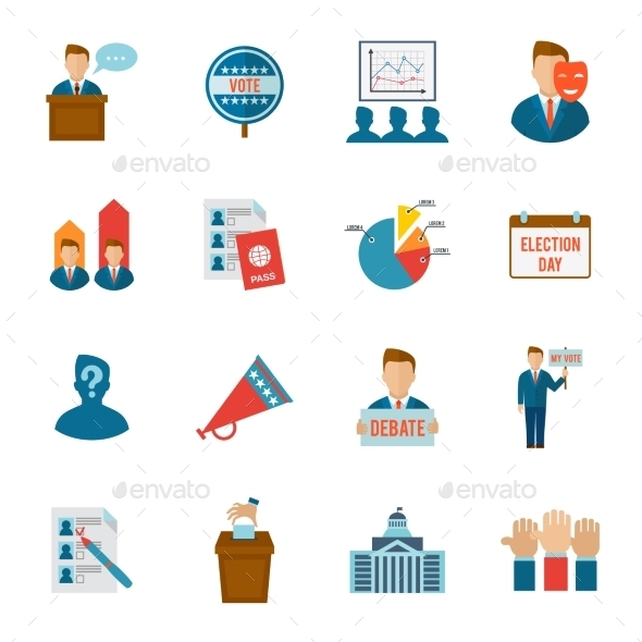 Election Icon Flat - Miscellaneous Icons