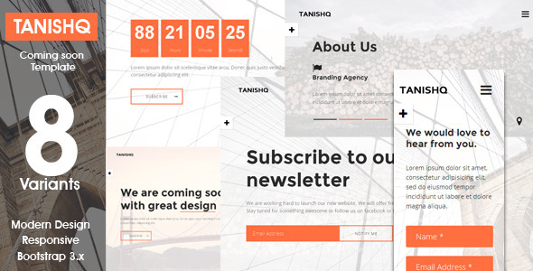Tanishq – Responsive Coming Soon Template