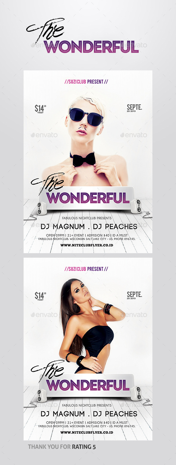The Wonderful Flyer - Clubs & Parties Events