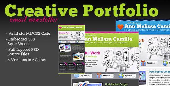 Free Download Creative Portfolio HTML Email Template Nulled Latest Version