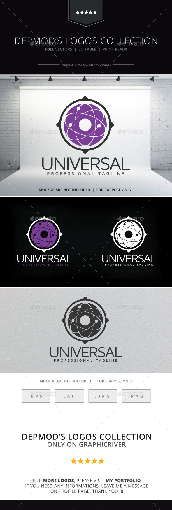 Universal Logo - Abstract Logo Templates