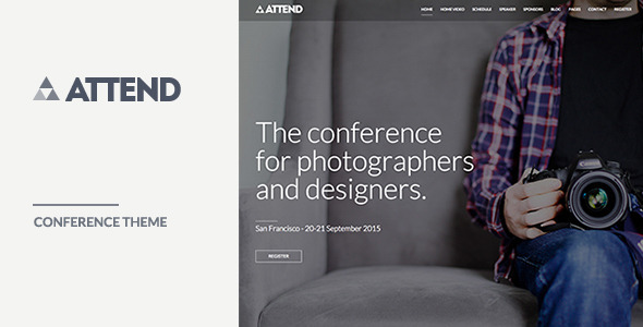 Conference & Event WordPress Theme – Attend