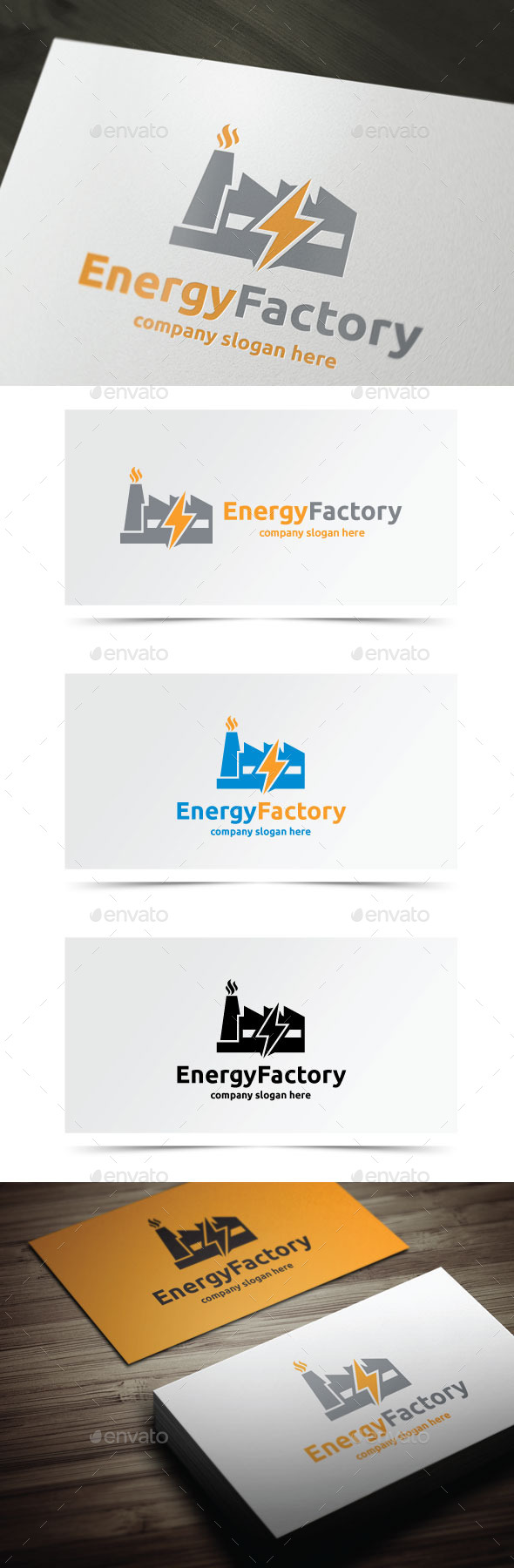 Energy Factory - Objects Logo Templates