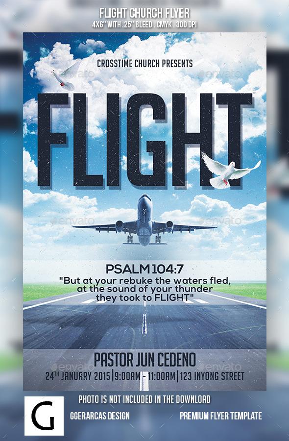 Flight Church Flyer - Church Flyers