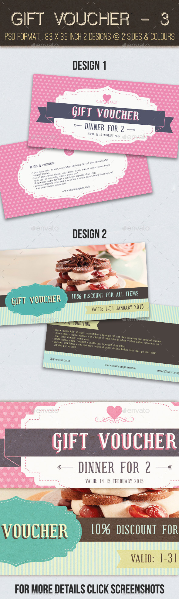 Gift Voucher - 3 - Loyalty Cards Cards & Invites