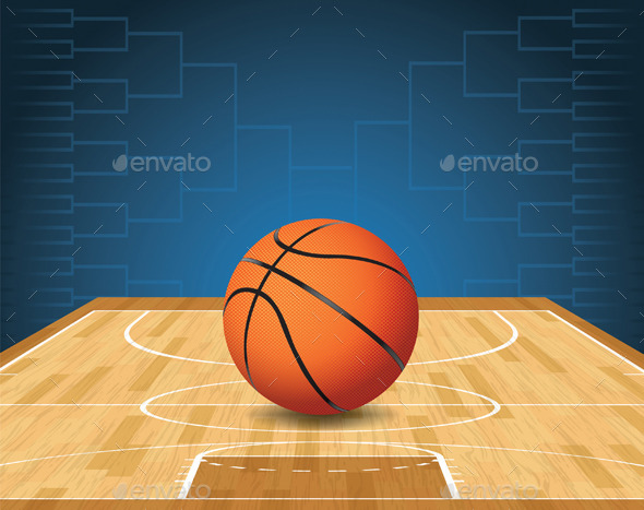Basketball Court and Ball Tournament - Sports/Activity Conceptual
