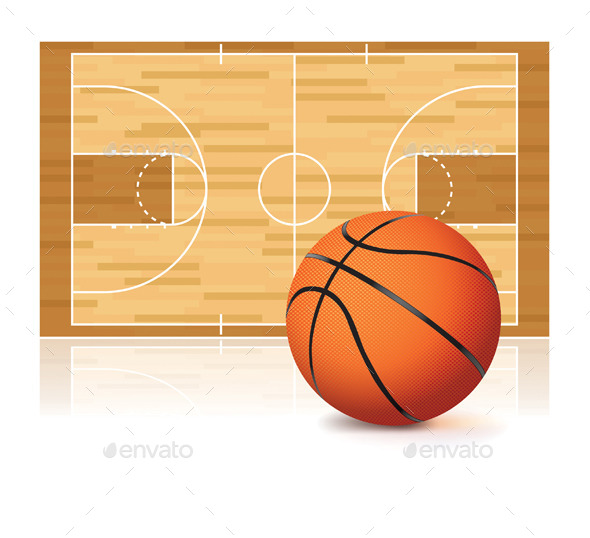 Basketball and Court - Sports/Activity Conceptual