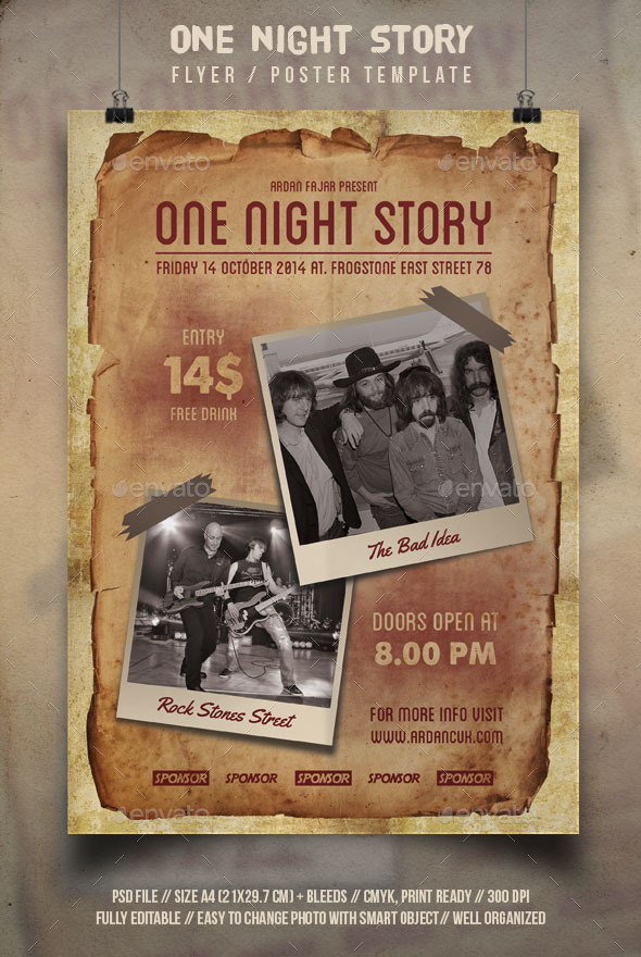 One Night Story Flyer Template - Events Flyers