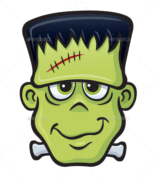Frankenstein Monster Face - Monsters Characters