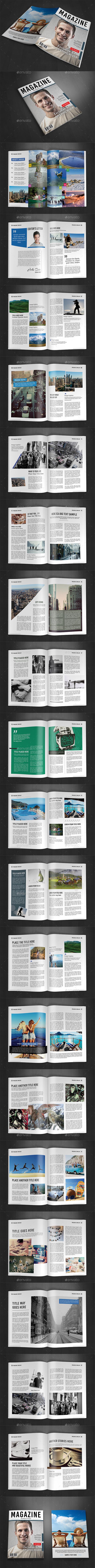 A4 Magazine Template Vol.10 - Magazines Print Templates