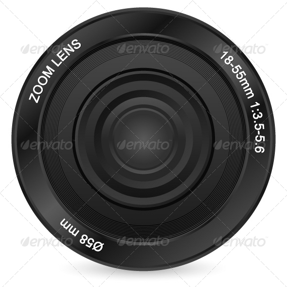 Zoom Lens - Objects Vectors