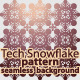 Tech Snowflake Pattern / Seamless Background - GraphicRiver Item for Sale