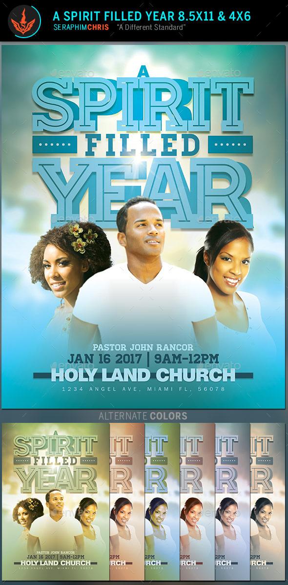 A Spirit Filled Year: Church Flyer Template - Church Flyers