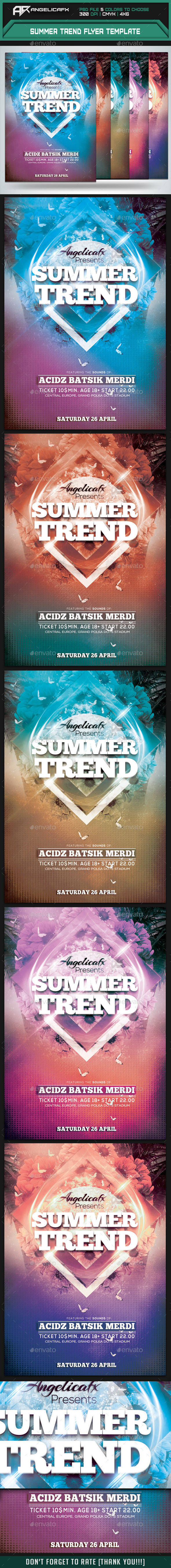 Summer Trend Flyer Template - Events Flyers