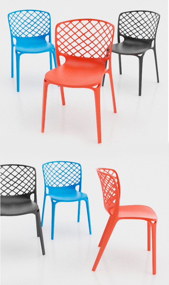 Gamera Chair Calligaris - 3DOcean Item for Sale
