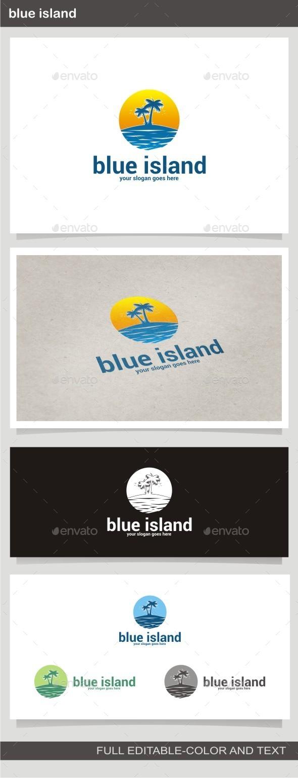 Blue Island - Buildings Logo Templates