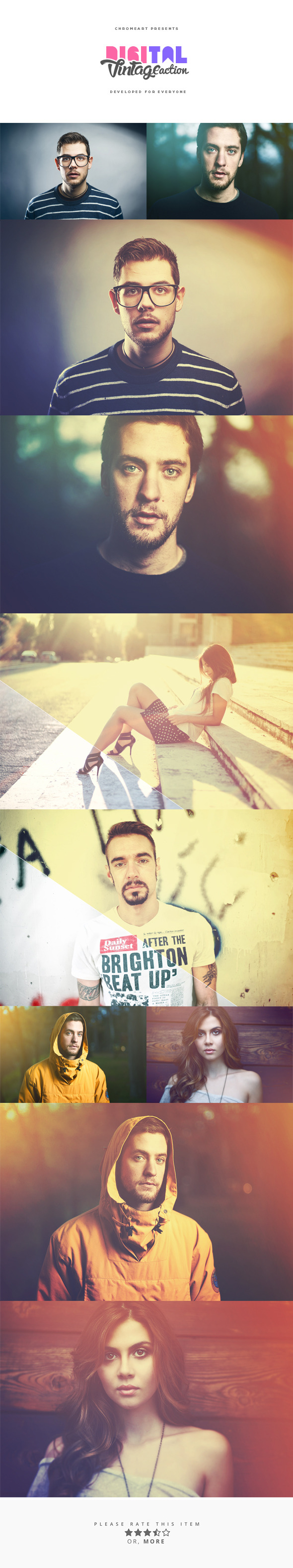 Digital Vintage PS Action - Photo Effects Actions