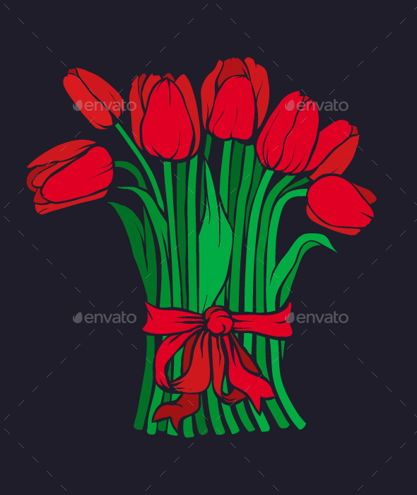 Red Tulips - Organic Objects Objects
