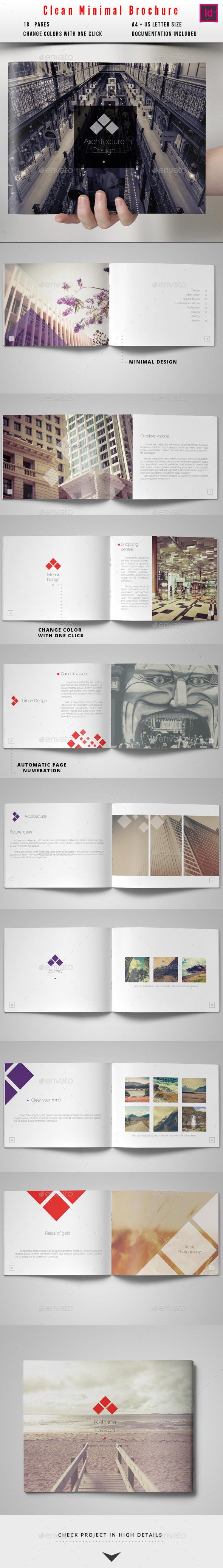 Minimal Clean Brochure - Portfolio Brochures