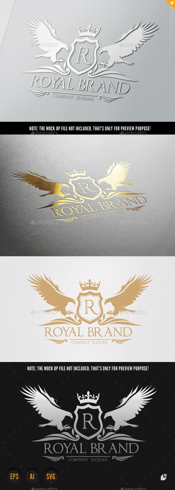 Eagle Royal Brand  - Crests Logo Templates