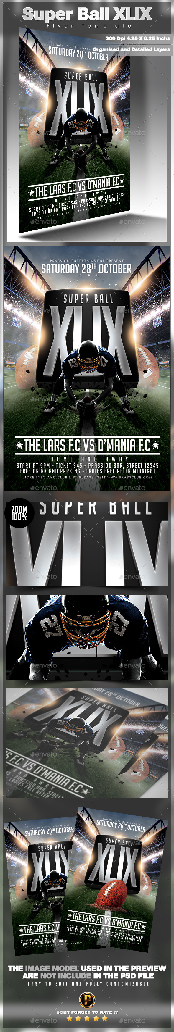 Super Ball XLIX Flyer Template - Sports Events