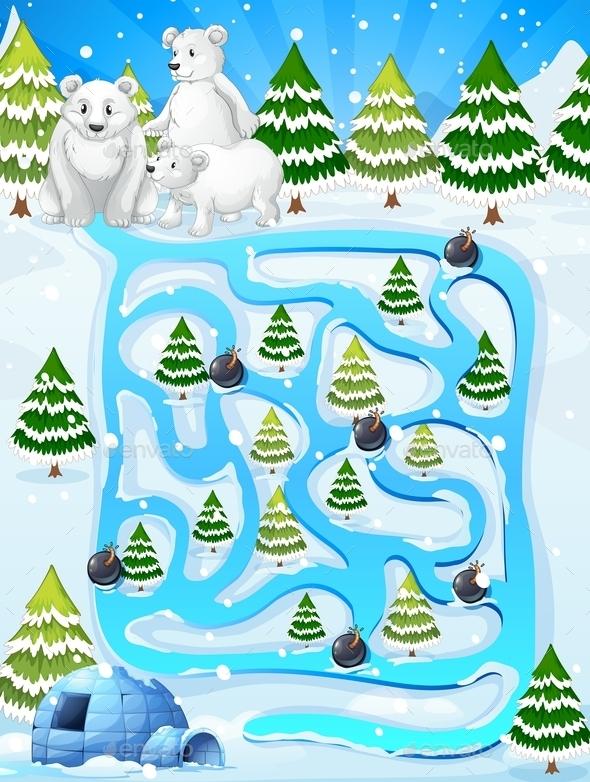 Winter Maze Game - Miscellaneous Vectors