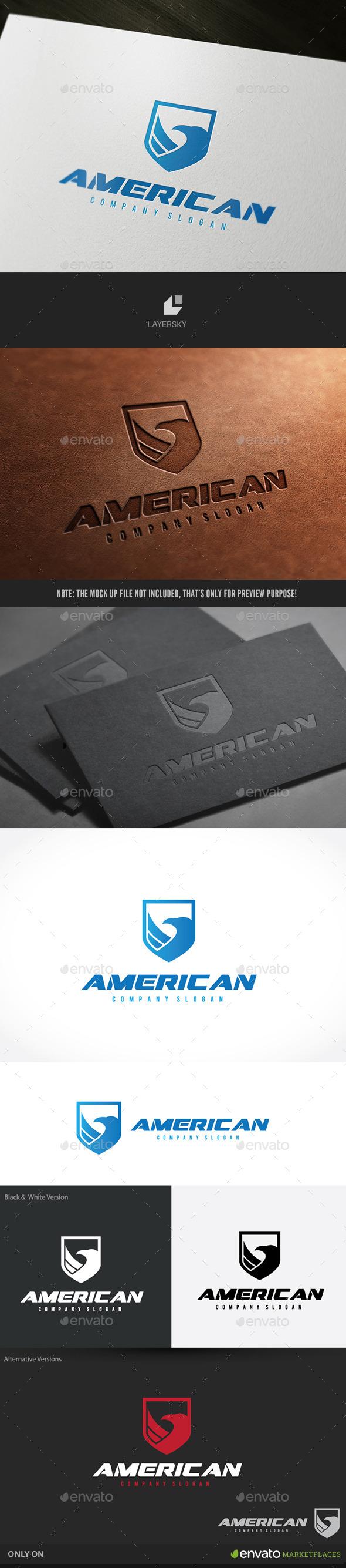 American Eagle - Crests Logo Templates