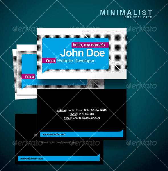 Minimalist Business Card - Creative Business Cards