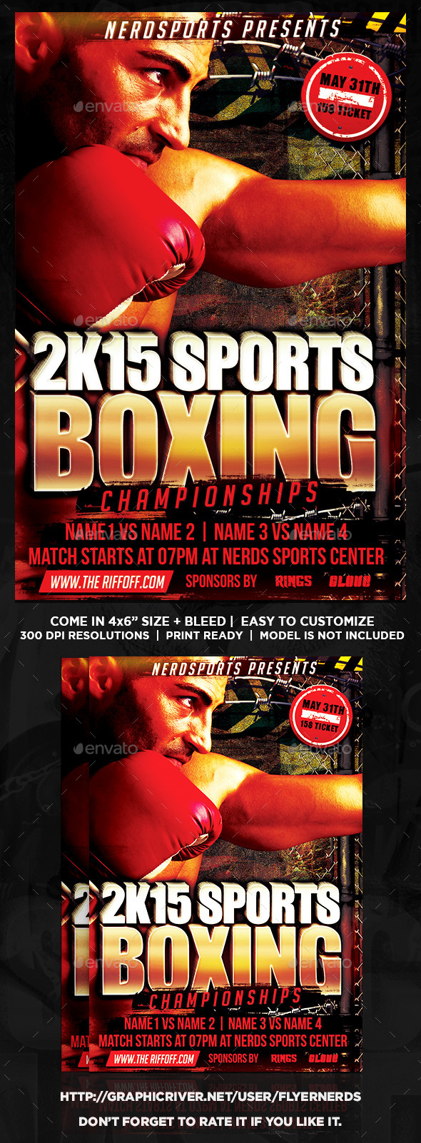 Boxing Fight Sports Flyer - Sports Events