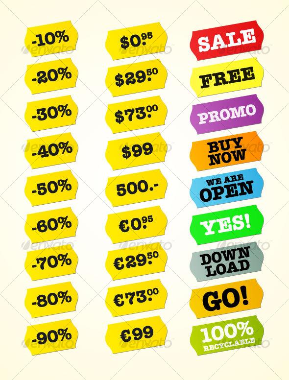 Shop Label Set - Retail Commercial / Shopping