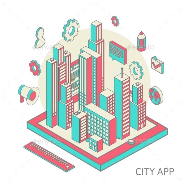 City App - Conceptual Vectors