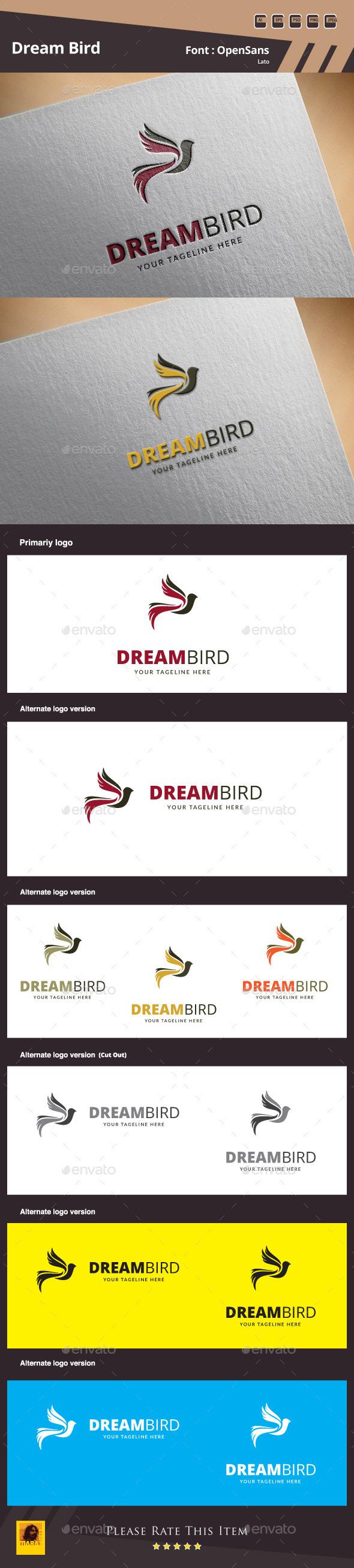 Dream Bird Logo Template - Animals Logo Templates