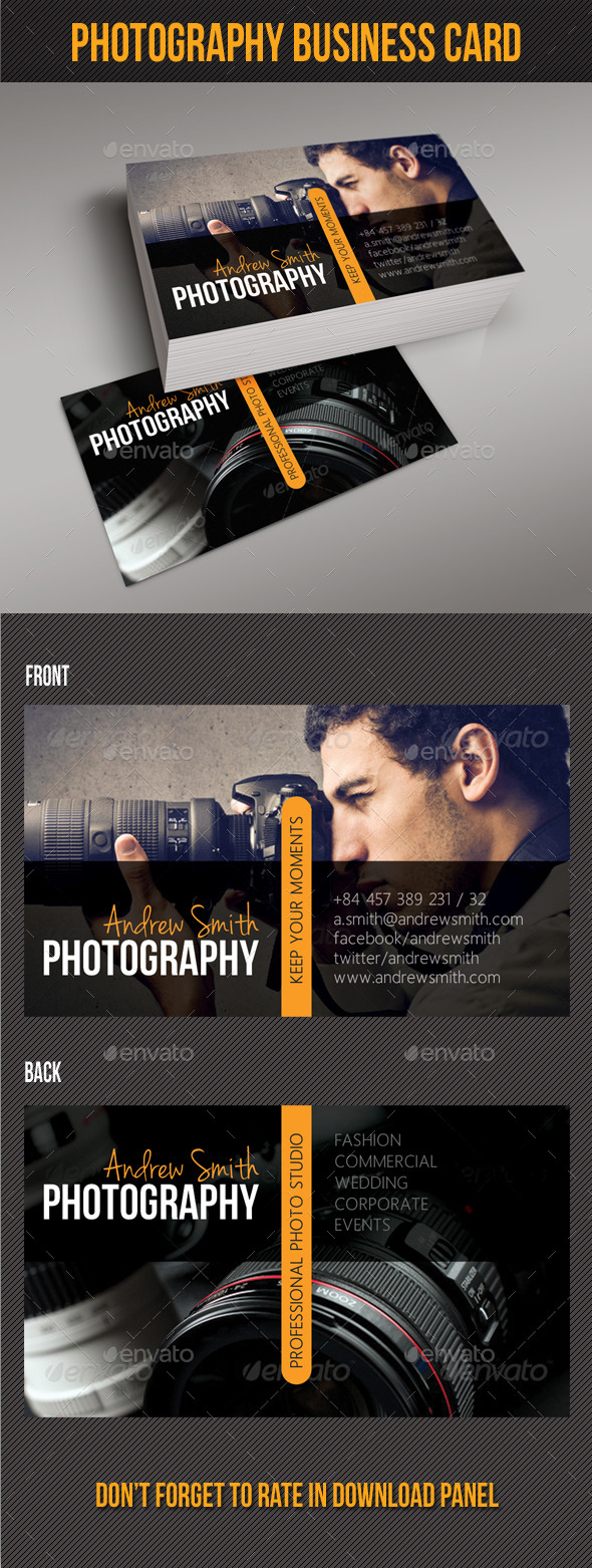 Photography Studio Business Card V03 - Industry Specific Business Cards