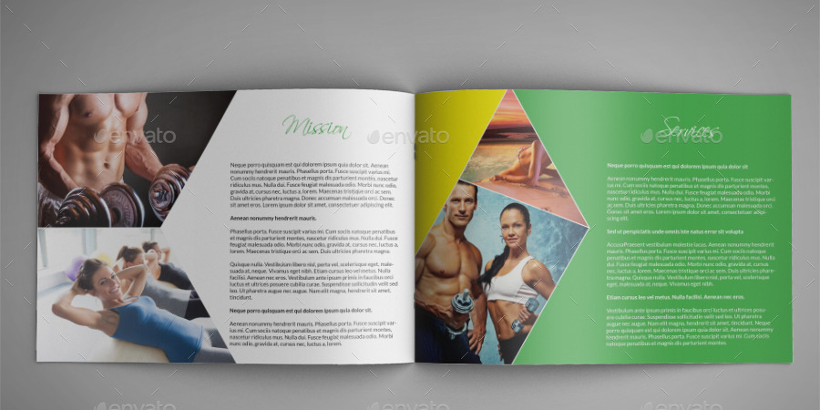 Fitness Center A Indesign Brochure Template By Annozio  Graphicriver