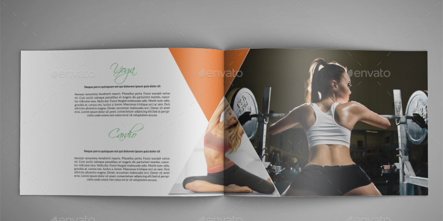 Fitness Center A4 Indesign Brochure Template By Annozio | Graphicriver