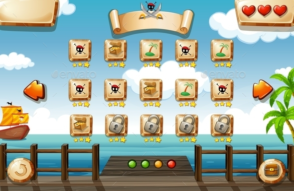 Pirate Game - Miscellaneous Vectors