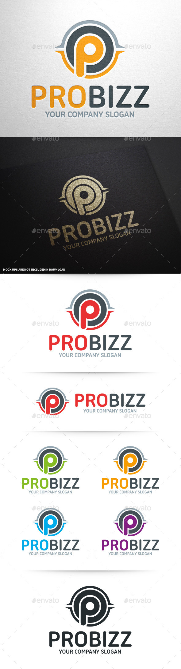 Pro Business - Letter P Logo - Letters Logo Templates