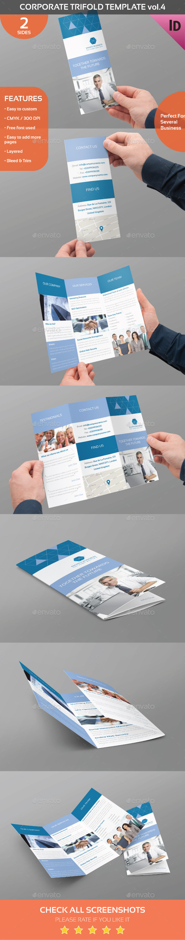 Corporate Trifold Template Vol.4 - Corporate Brochures