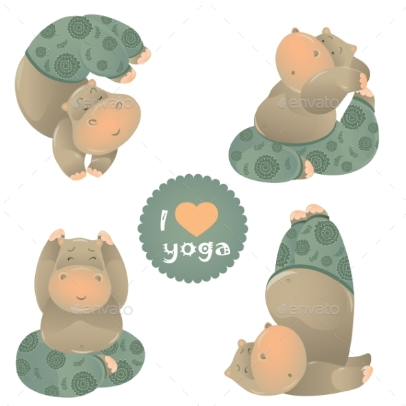 Animals in Yoga Pose - Sports/Activity Conceptual