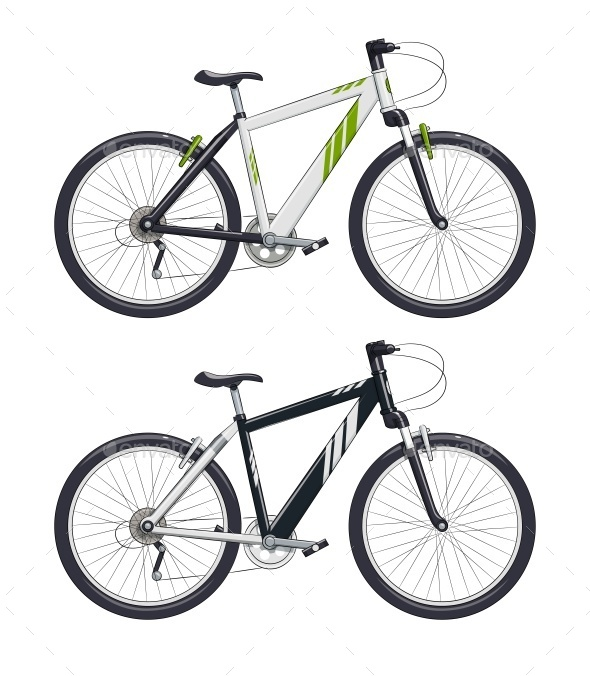 Mountain Bike or Sport Bicycle - Man-made Objects Objects