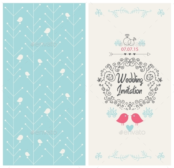 Wedding Card - Decorative Symbols Decorative