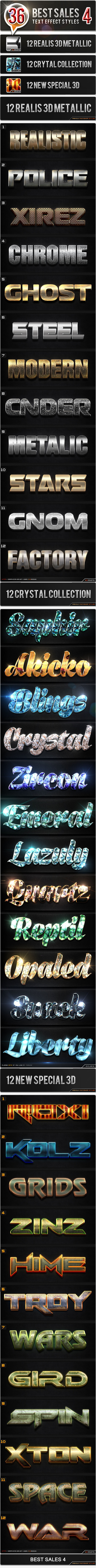 36 Styles_4 Bundle - Text Effects Styles