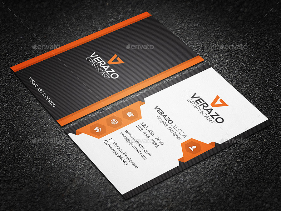 Creative & Modern Business Card 68 by verazo | GraphicRiver