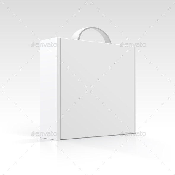 Blank Box with Handle - Man-made Objects Objects