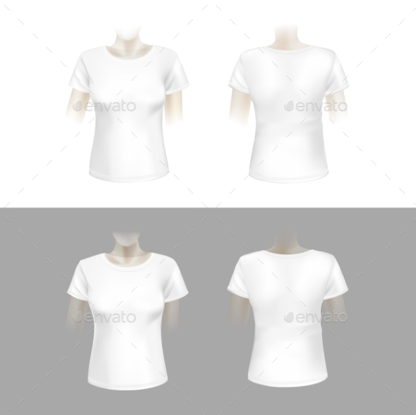 White Womens T-Shirt - Man-made Objects Objects