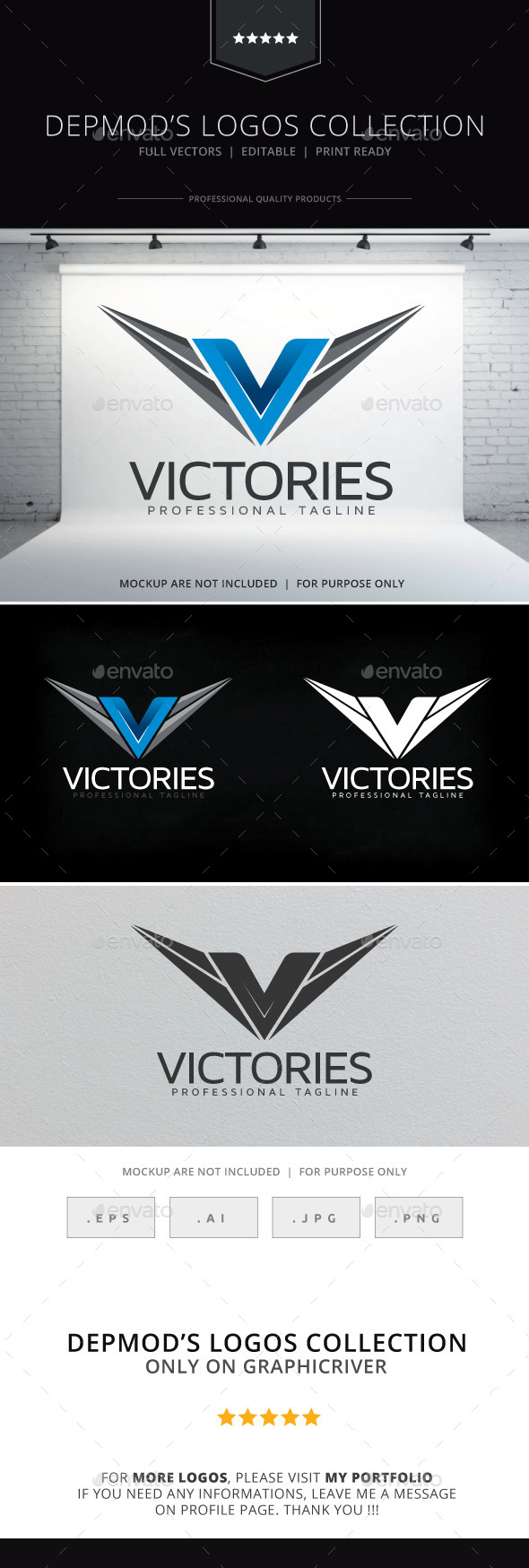 Victories Logo - Letters Logo Templates