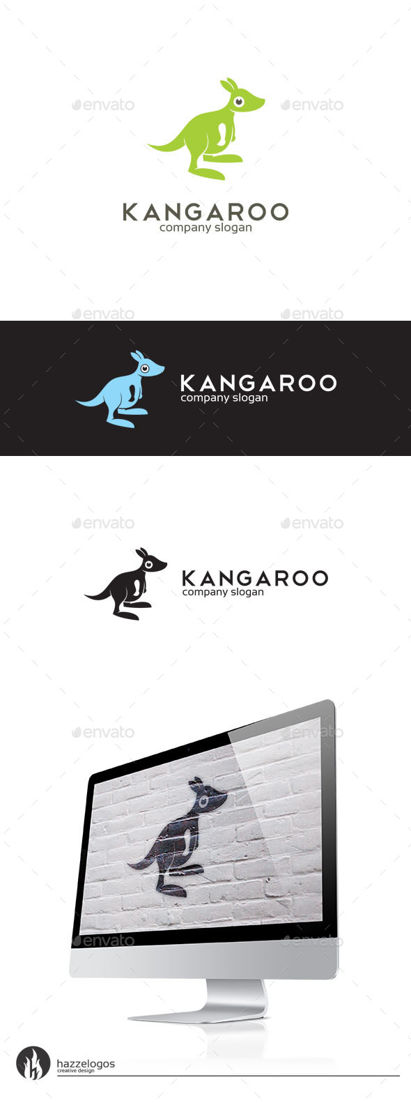 Kangaroo Logo - Animals Logo Templates